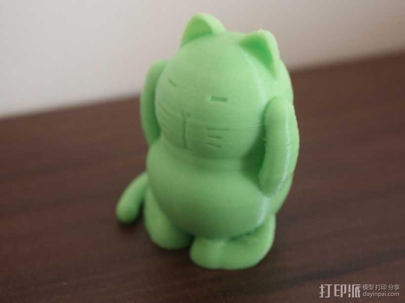 招财猫 模型 3D打印模型渲染图