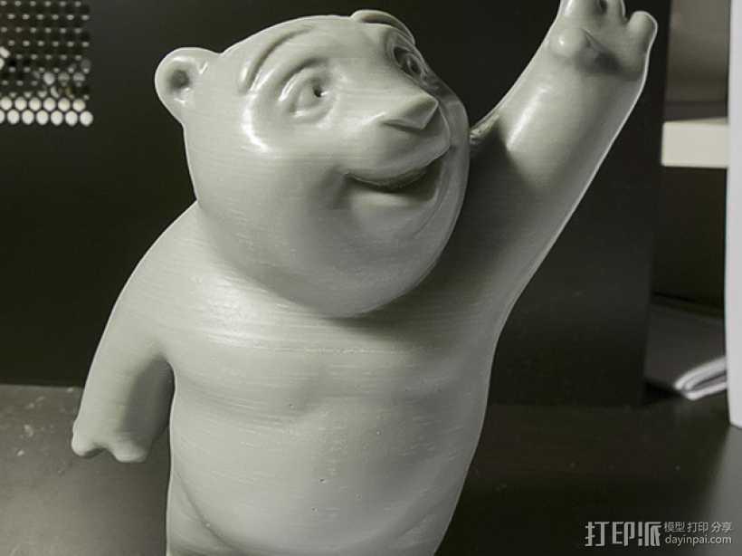 小熊饼干罐 3D打印模型渲染图