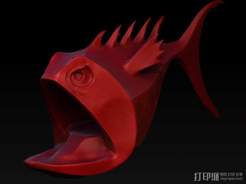 Fandy鱼 模型 3D打印模型渲染图
