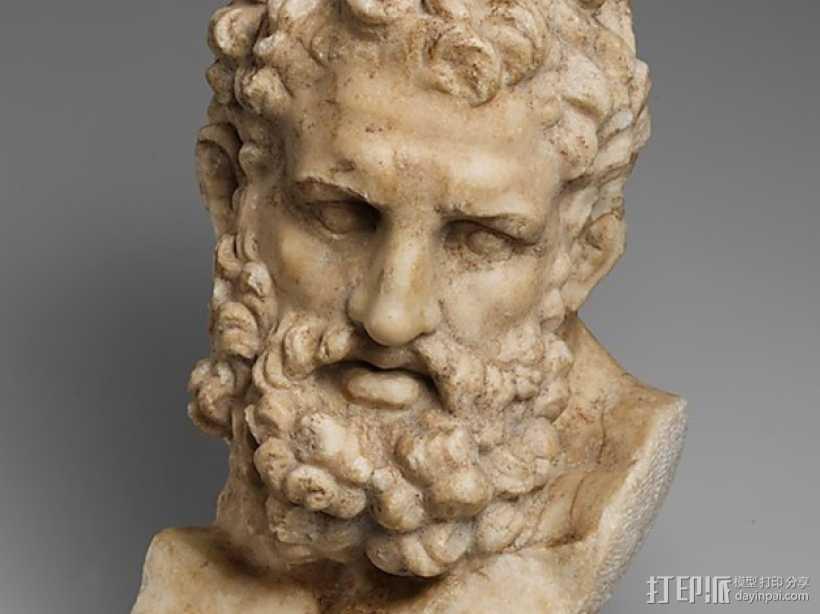 Herakles赫拉克利斯 大理石头像模型 3D打印模型渲染图