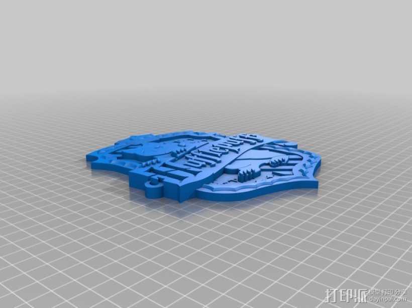 哈利波特 赫奇帕奇学校标志 3D打印模型渲染图