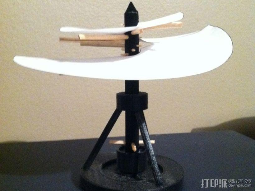 飞机螺旋桨 3D打印模型渲染图