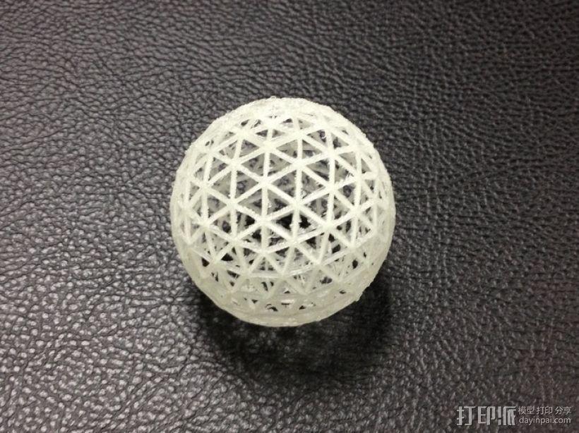 测地线球体 3D打印模型渲染图