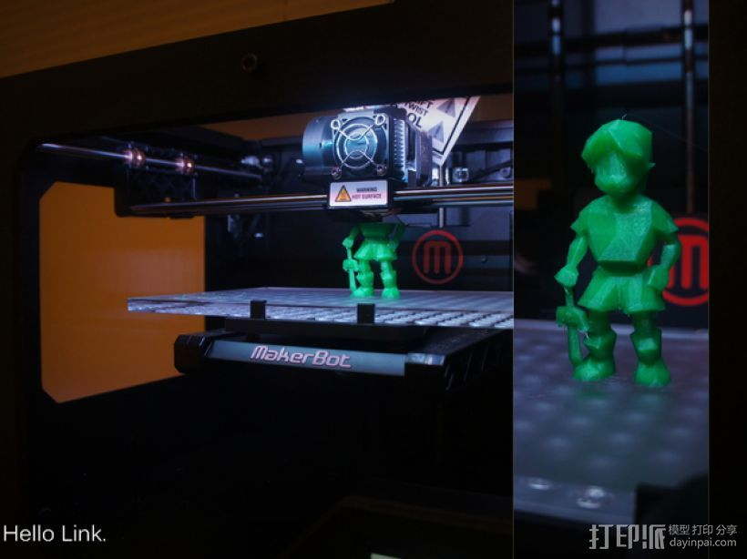 OoT游戏人物模型 3D打印模型渲染图