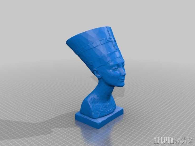 Nefertiti奈费尔提蒂半身像模型 3D打印模型渲染图