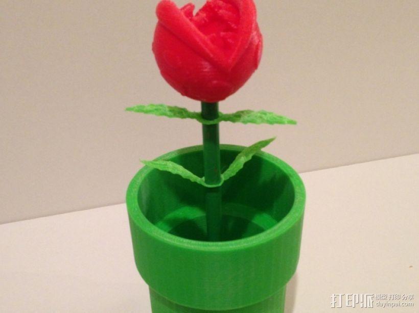 食人花笔筒 3D打印模型渲染图