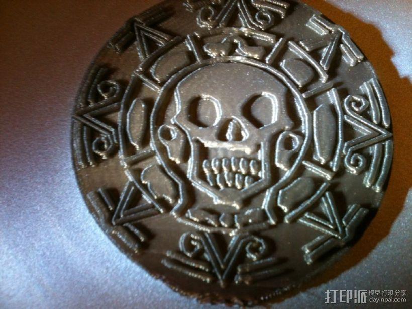海盗 硬币 3D打印模型渲染图