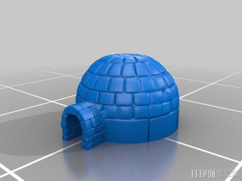 Igloo冰屋 3D打印模型渲染图