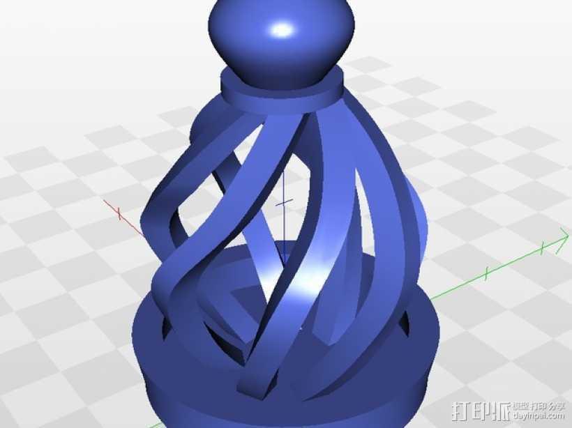 大理石笼子 3D打印模型渲染图