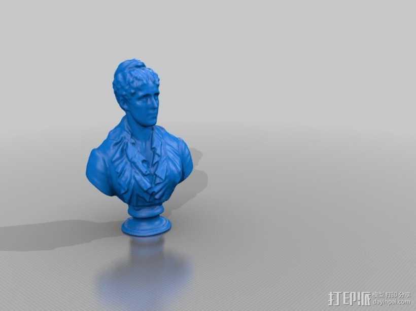 Grace Kimball半身像模型 3D打印模型渲染图