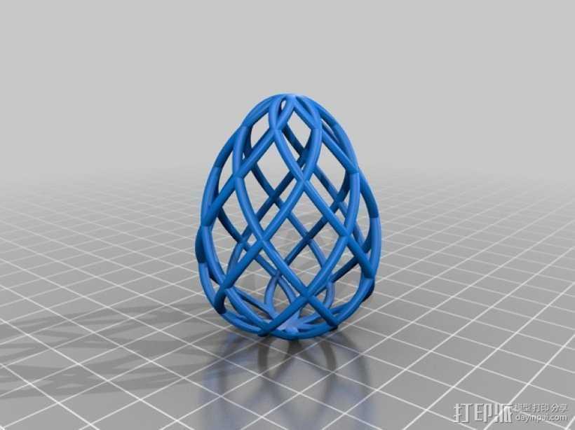 镂空鸡蛋模型 3D打印模型渲染图