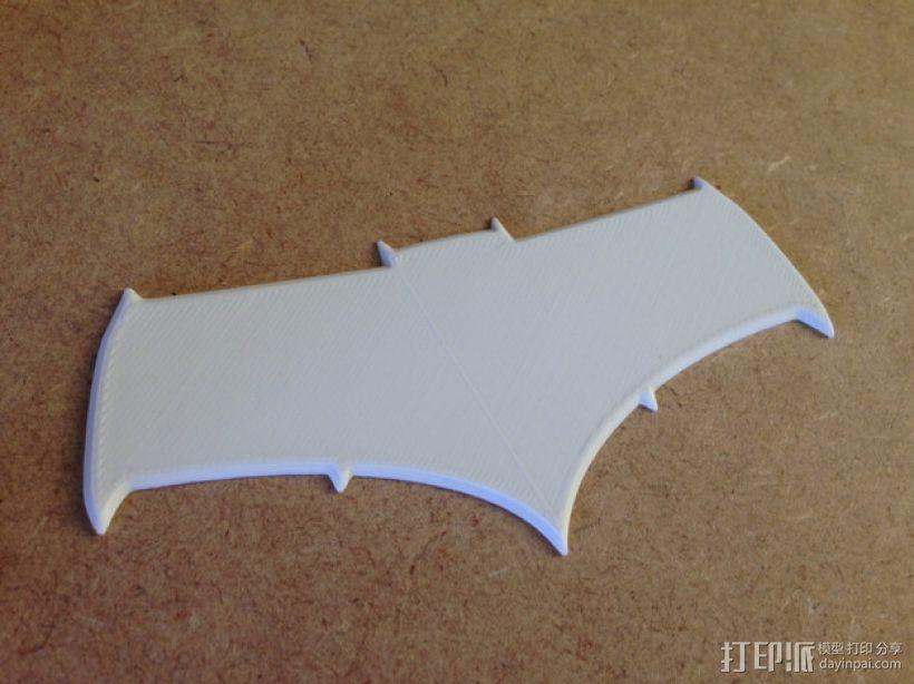 超人与蝙蝠侠 标志 3D打印模型渲染图
