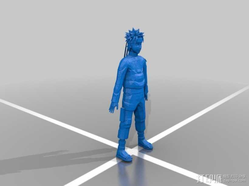 火影忍者 人物模型 3D打印模型渲染图