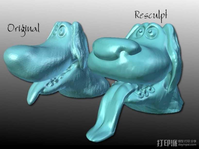 迪士尼狗狗 模型 3D打印模型渲染图