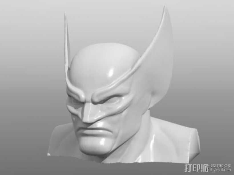 金刚狼头像模型 3D打印模型渲染图