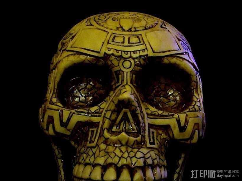 玛雅人头骨 3D打印模型渲染图