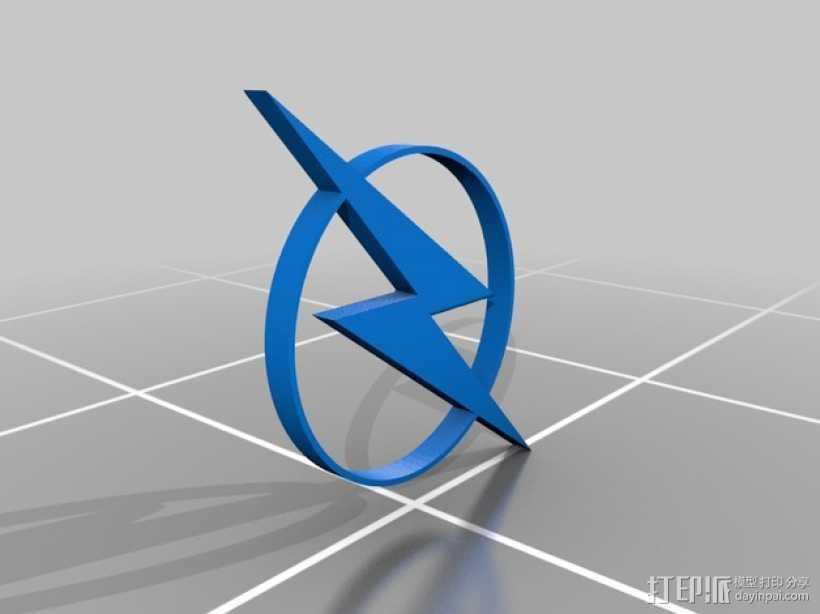 闪电标识 3D打印模型渲染图