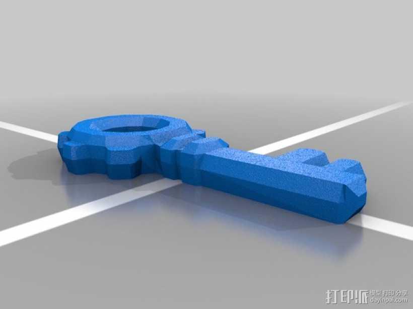 小型塞尔达钥匙 3D打印模型渲染图