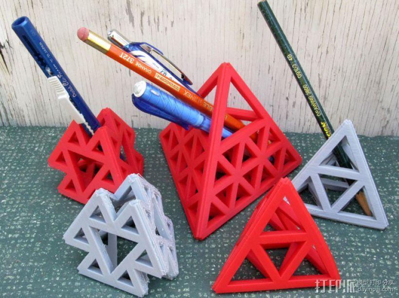 四面体摆件 笔架 3D打印模型渲染图