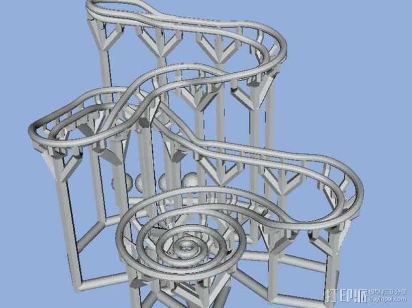 滚球轨道 3D打印模型渲染图