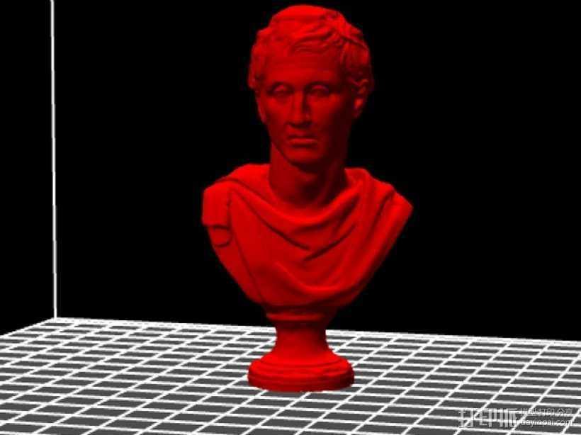 米南德雕塑 3D打印模型渲染图