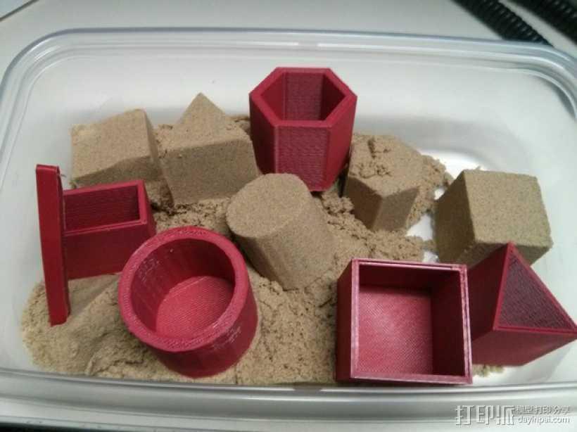 沙模 3D打印模型渲染图