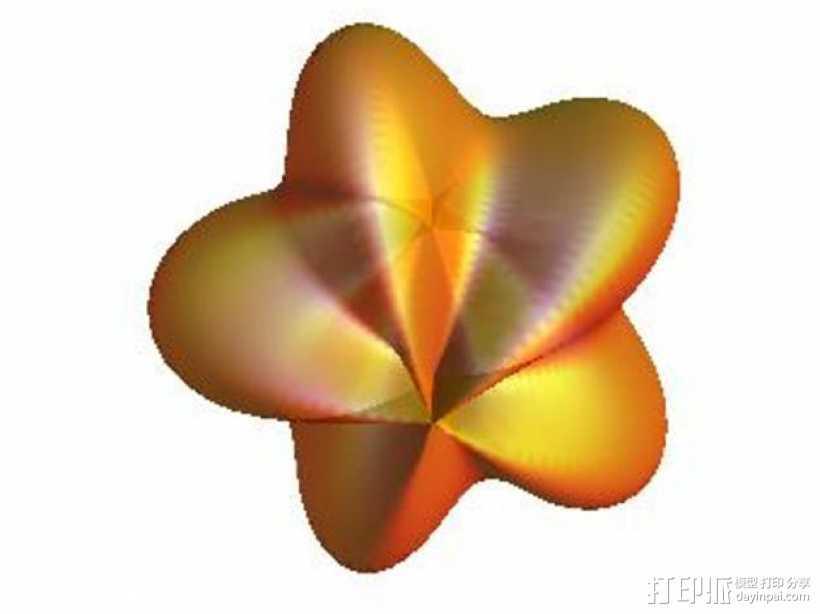 杨桃 模型 3D打印模型渲染图