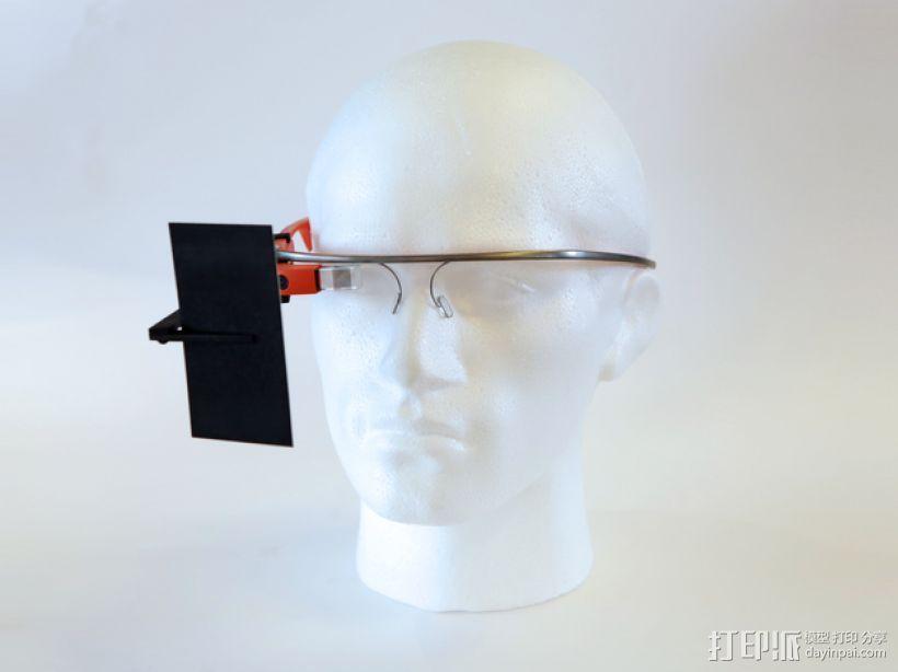 谷歌自拍眼镜 3D打印模型渲染图
