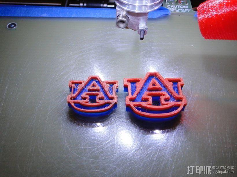Auburn印章 3D打印模型渲染图