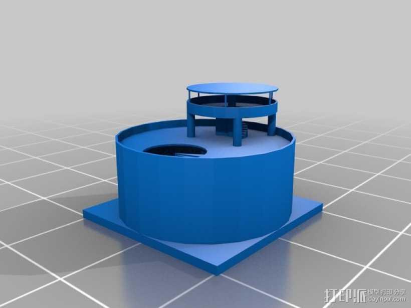 圆形建筑 模型 3D打印模型渲染图