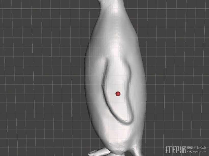 人脚企鹅 3D打印模型渲染图