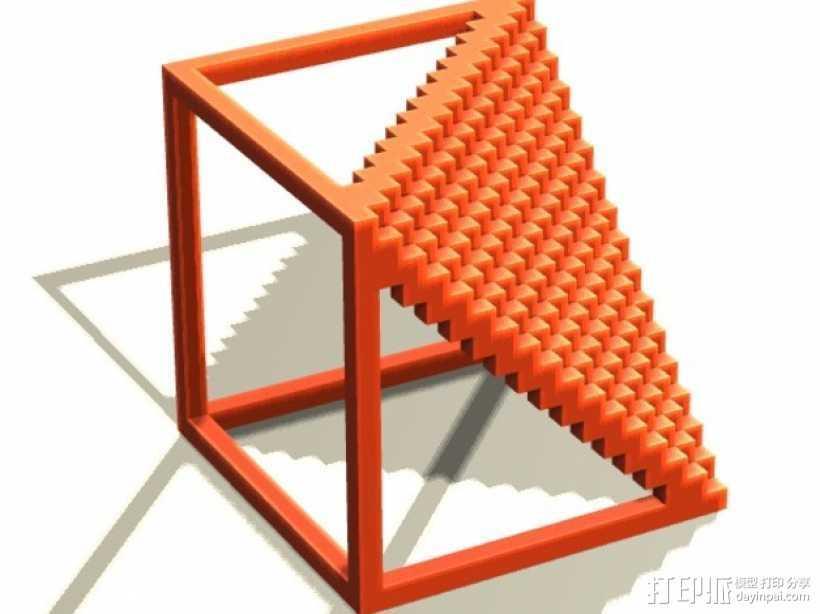 体素楼梯 3D打印模型渲染图