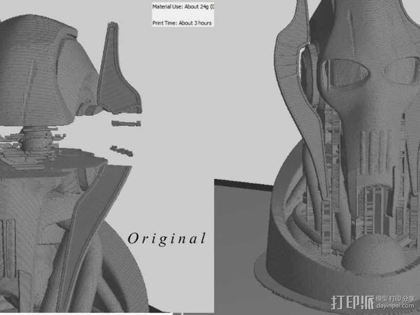 格里弗斯将军 模型 3D打印模型渲染图