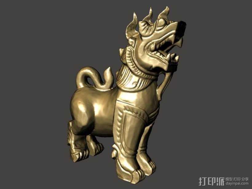 石狮子 模型 3D打印模型渲染图