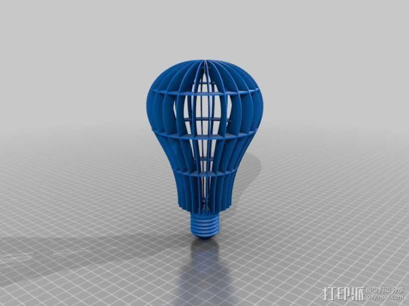 灯泡 3D打印模型渲染图