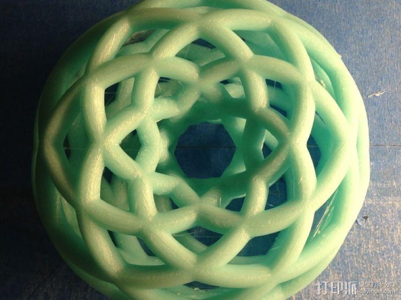 双圆环面 3D打印模型渲染图
