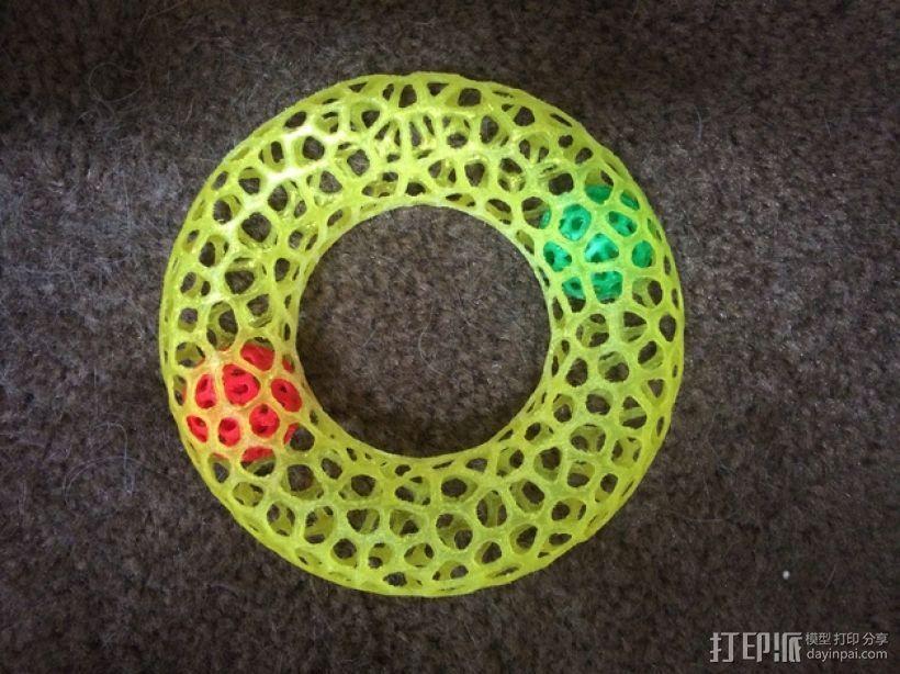 甜甜圈 3D打印模型渲染图