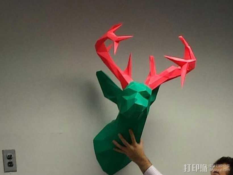 驯鹿头 模型 3D打印模型渲染图