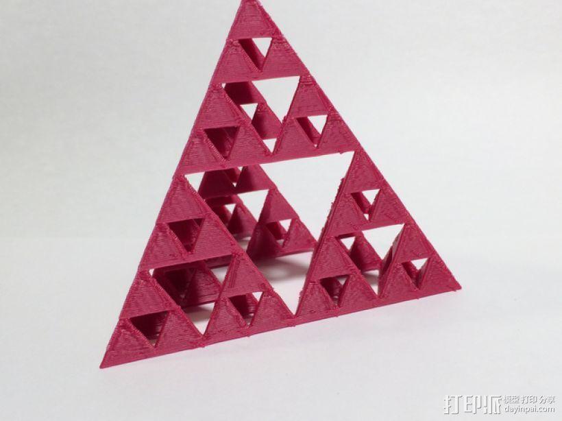 谢尔宾斯基三角形 3D打印模型渲染图