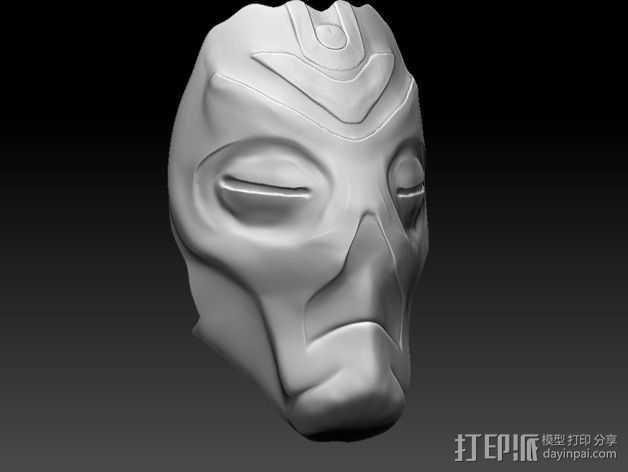 龙祭司面具 3D打印模型渲染图