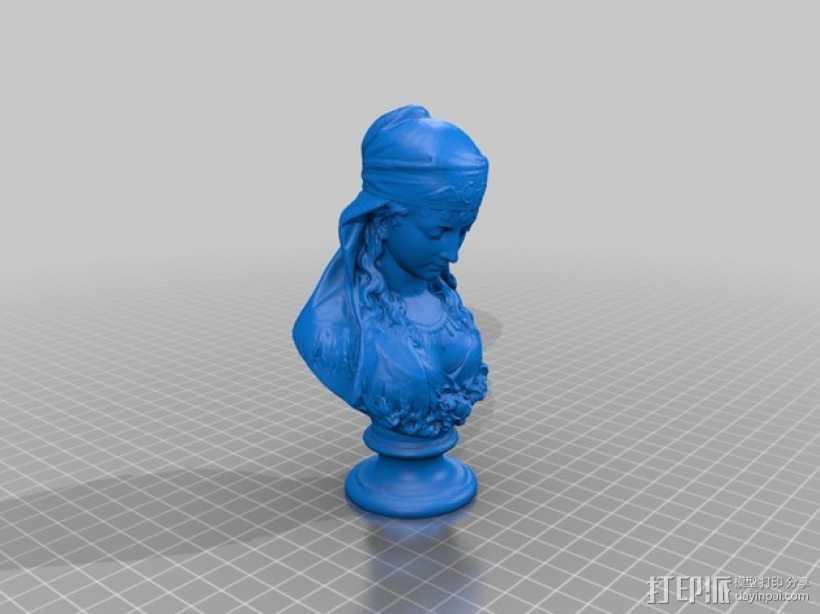 吉普赛女郎 3D打印模型渲染图