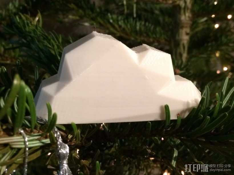 低面数云 3D打印模型渲染图