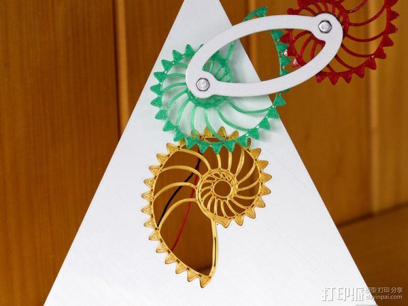 鹦鹉螺齿轮 3D打印模型渲染图