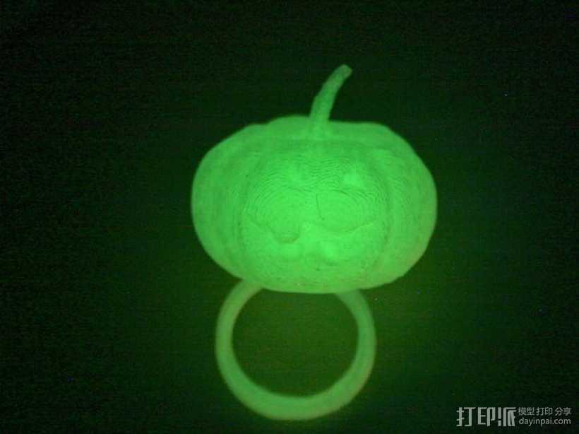 南瓜灯戒指 3D打印模型渲染图