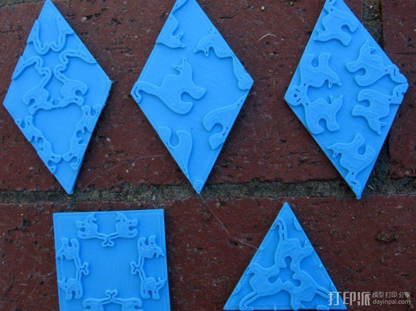 小猫多边形方块 3D打印模型渲染图