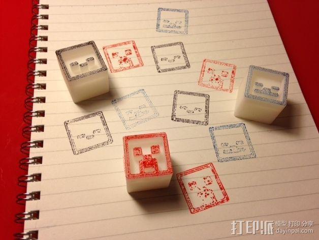 我的世界 游戏道具 邮票戳 3D打印模型渲染图
