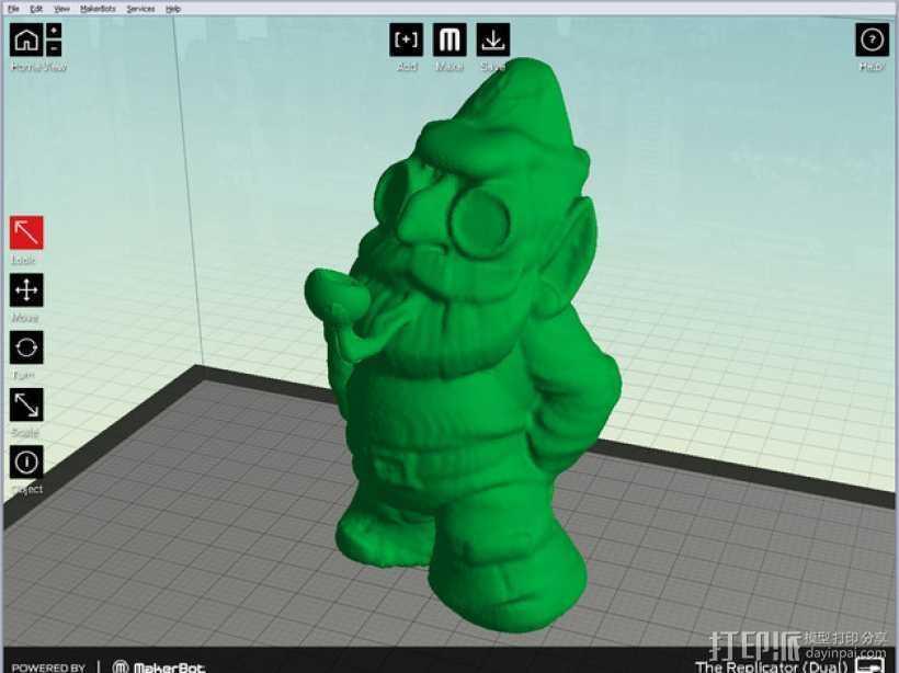 小矮人夏洛克 模型 3D打印模型渲染图