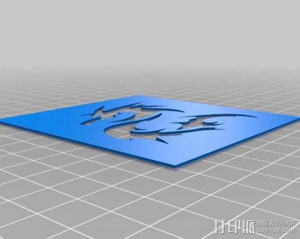 龙形蜡板 3D打印模型渲染图