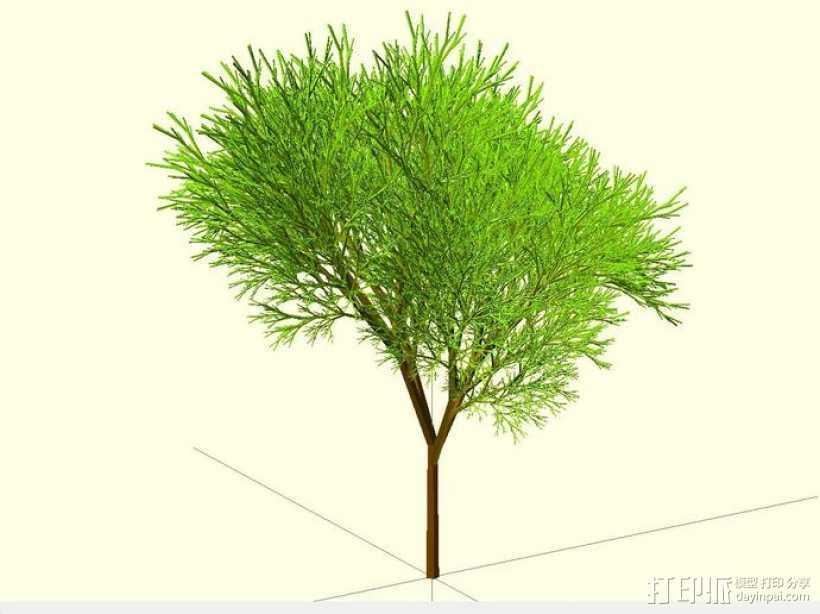 树 模型 3D打印模型渲染图