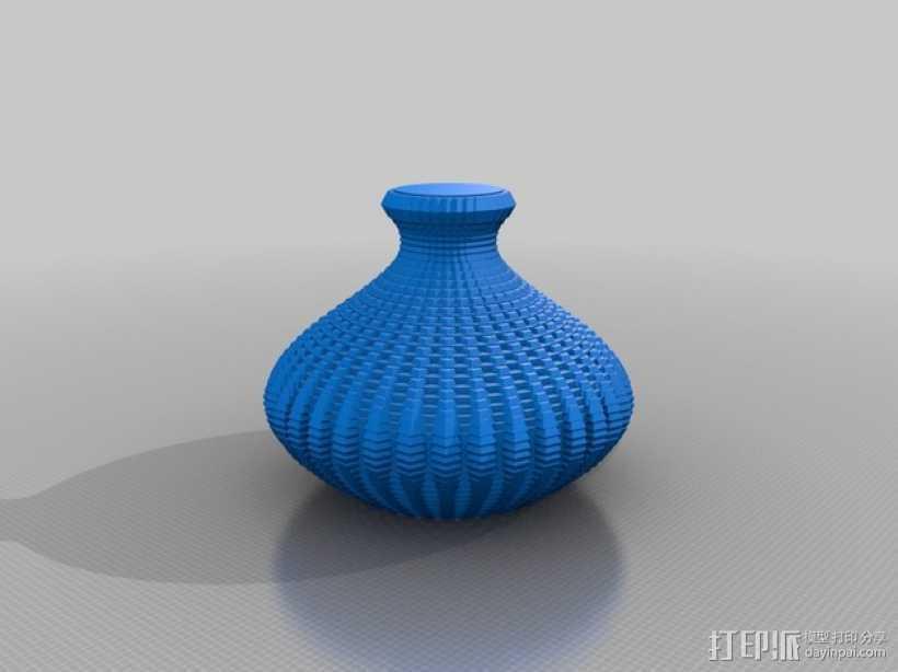正弦波形花瓶 3D打印模型渲染图